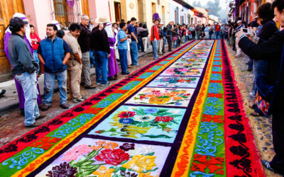 #328 – The Beauty of Lent Carpets in Guatemala