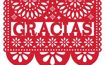 21 must have words and phrases. Gracias in Spanish. papel picado or cut paper a Mexican art